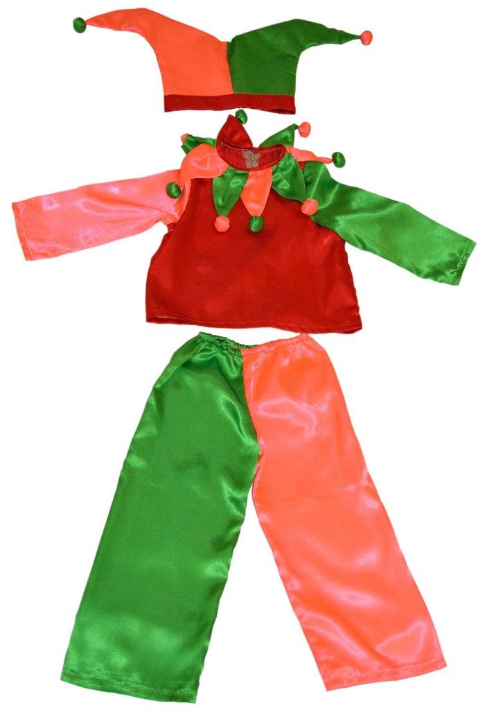 Новогодний костюм петрушки для мальчика своими руками